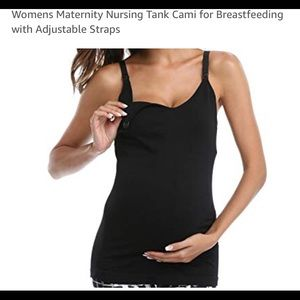 Tops - Maternity tank tops w/easy snap for breastfeeding